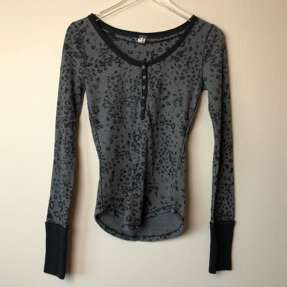 Free People Tops - Free People || We the Free Leopard Print Thermal